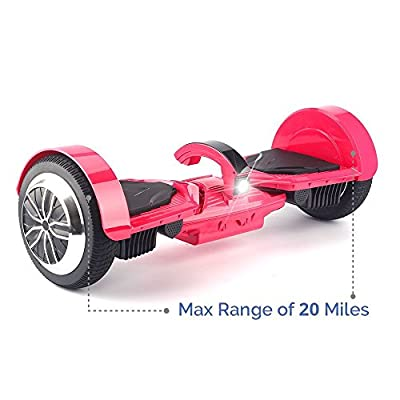 "Levit8ion Ultra 7.5"" Bluetooth Hoverboard - Self-Balancing 2 Wheel Electric Scooter - UL Certified with Fireproof Detachable Samsung Battery, EZ Carry Handle with Night Headlight"
