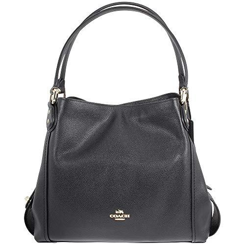 Coach Women's Edie 31 Shoulder Bag, Light Gold, Black, OS