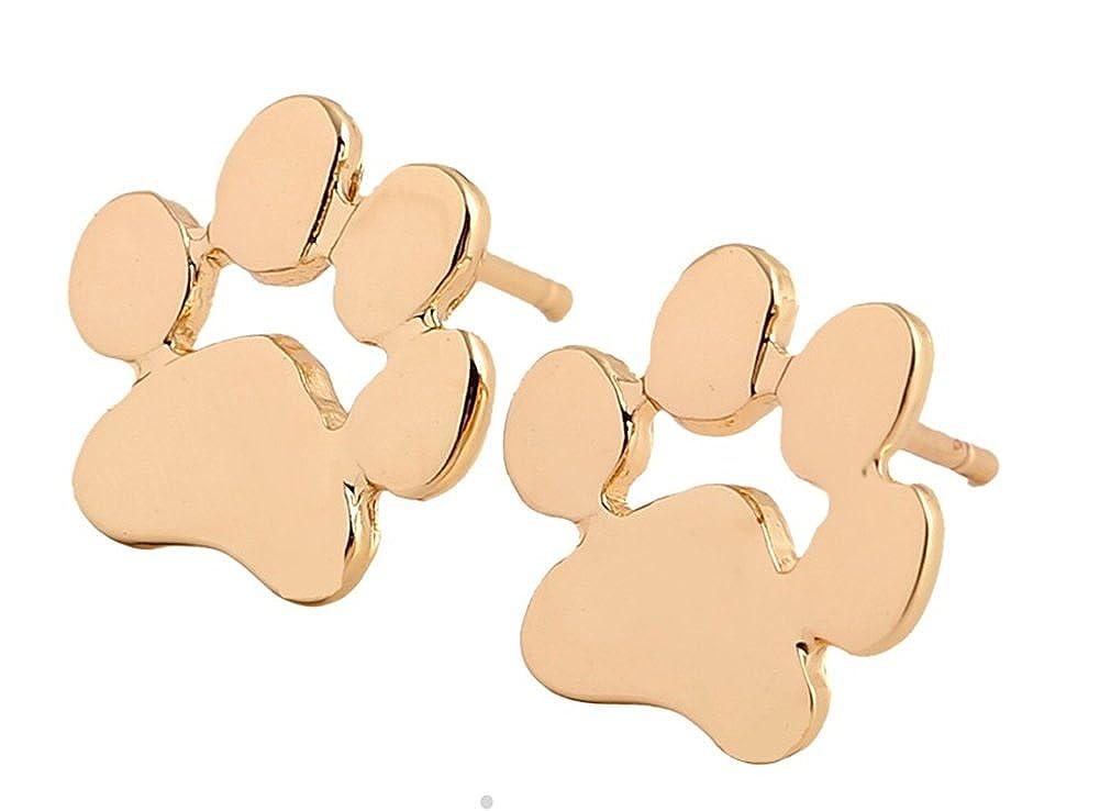 StylesILove Cute Puppy Dog Footprints Chain Pendant Girls Fashion Necklace Earrings Jewelry NL0055