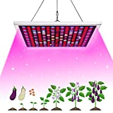 GROWSTAR Led Grow Light for Indoor Plant, 45W LED Grow Light UV IR Full Spectrum LED Grow Bulb for Indoor Plants Hydroponic Greenhouse Succulents Seedling Flowers (225 LEDs)