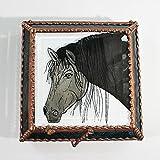 Equine Horse Stained Glass Jewelry Box, Presentation Box, Keepsake Box, Glass Jewels, Swarovski Crystals, USA Made