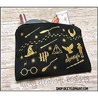 4d5b5e0ecd9e58 Harry Potter Makeup Bag - Harry Potter Pencil Bag - Harry Potter Cosmetics  Bag