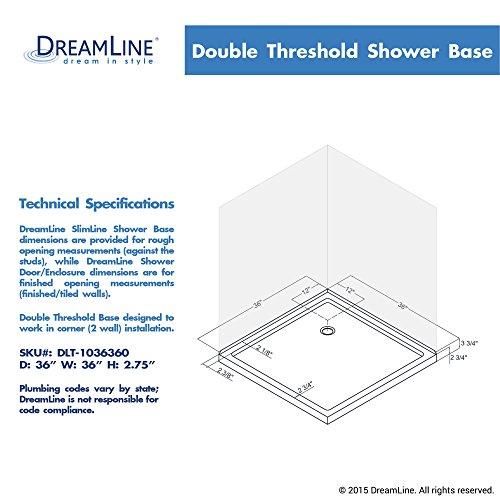 double threshold shower base dlt1036360 shower systems amazoncom