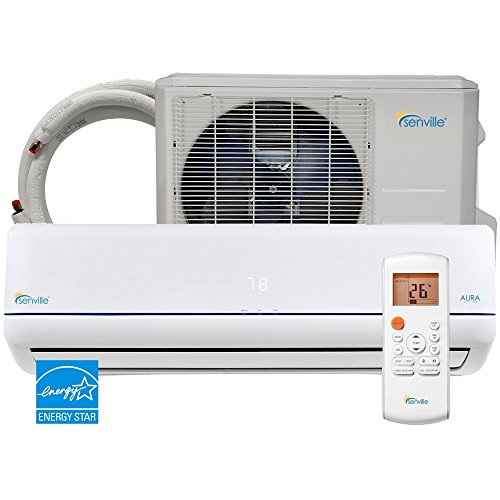 Senville 9000 BTU SENA-09HF/Z Energy Star Mini Split Air Conditioner Heat Pump, White