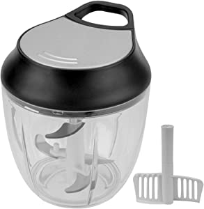 Eastore Life Large Hand-Powered Food Chopper, Manual Food Processor with Handle Held, Vegetable Slicer and Dicer, No Electricity Required
