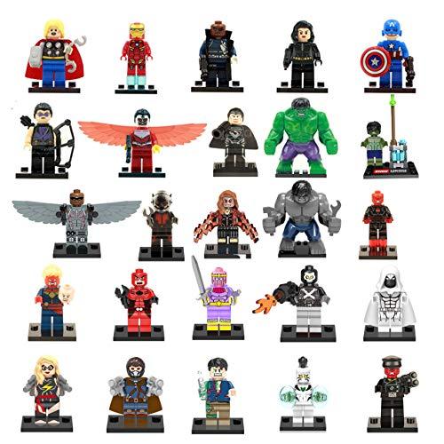 Qool-Bear Super Avenger Hero Assemble Building Block Set 25 Pack Bricks Mini Figures