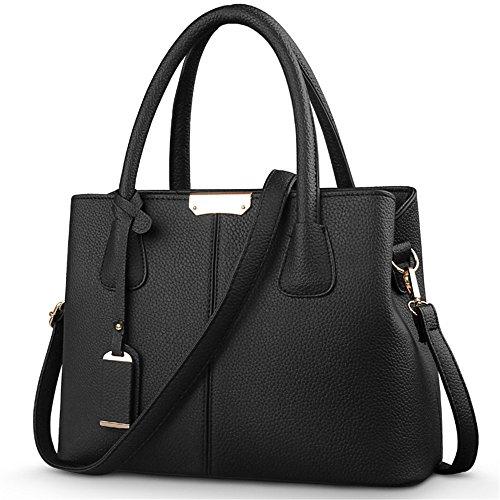 Medium Handbags Women's Purse Cross Bag Body Handle Black Bowling HerHe Size Satchels Top CxAXA5wq
