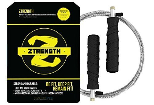 Ztrength Premium Jump Rope for Adults! Best for Cardio Fitness Training - Perfect for all Jump Styles - Get back in Shape with an Intense Jump Rope Workout - Ideal Crossfit Jump Rope - Adjustable Jump Rope to Fit All Home Exercise Equipment
