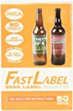 FastLabel Fermentation Accessories - Bomber Beer Bottle labels - Never scrub a bottle again brought to you by FastFerment