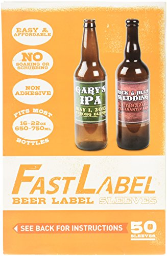 FastLabel Fermentation Accessories - Bomber Beer Bottle labels - Never scrub a bottle again brought to you by FastFerment by FastLabel