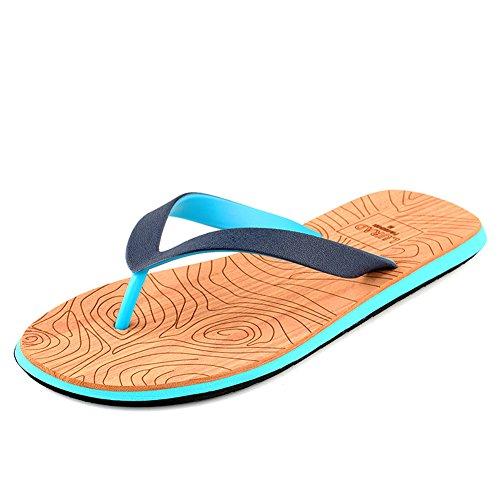 Cior Menn Og Kvinner Stranden Flip Flops Elskere Ferie Tøffelen Flat Thong Sko Mote Behagelige Sandaler 2blue