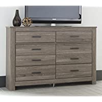 Ashley Furniture Signature Design - Waldrew Oak Grain Six Drawer Dresser - Contemporary - Warm Gray