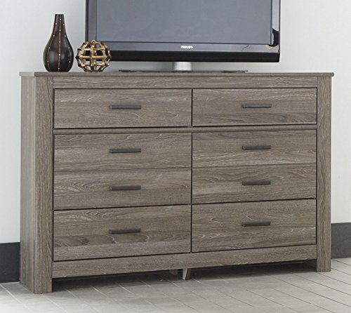 Ashley Waldrew 6 Drawer Dresser in Warm Gray