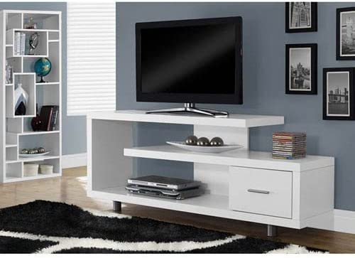 Hawthorne Ave White 60-Inch TV Console