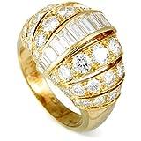 Luxury Bazaar Cartier 18K Yellow Gold Diamond Bombe Ring