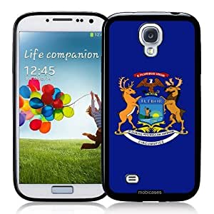Cool Painting Flag of Michigan - Protective Designer BLACK Case - Fits Samsung Galaxy S4 i9500