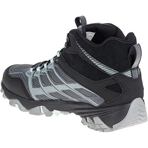 Merrell Mens Moab Fst Bluff Mid Waterproof Walking Hiking Boots Granite