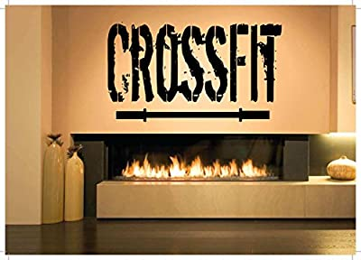 Vinyl Sticker Mural Decal Wall Decor Poster Art One Quote Word Crossfit Bodybuilding Fitness Center Sport Gym Fit Powerlifting Barbell Dumbbell Gymnastics SA850