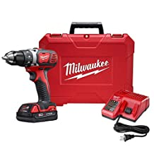 MIlwaukee M18 18V Lithium-Ion 1/2 Inch Cordless Drill Driver Compact Kit