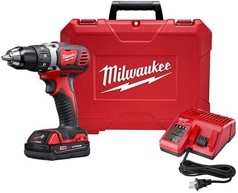 Milwaukee M18 18V Lithium-Ion 1 2 Inch Cordless Drill Driver Compact Kit 2606-21CT