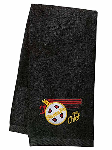 AT&SF Santa Fe Chief Embroidered Hand Towel Black - Towel Santa Fe