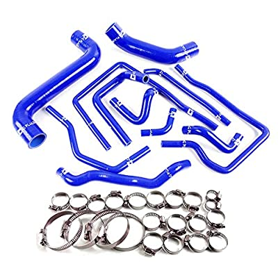 Silicone Radiator Coolant Hose Pumps Kit Clamps For SUBARU Impreza WRX/STi GDA/GDB EJ207 2002 2003 2004 2005 2006 Blue: Automotive
