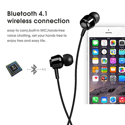 bluetooth earphones ziofen wireless headphones bluetooth 4 1 earbuds stereo magnet headset. Black Bedroom Furniture Sets. Home Design Ideas