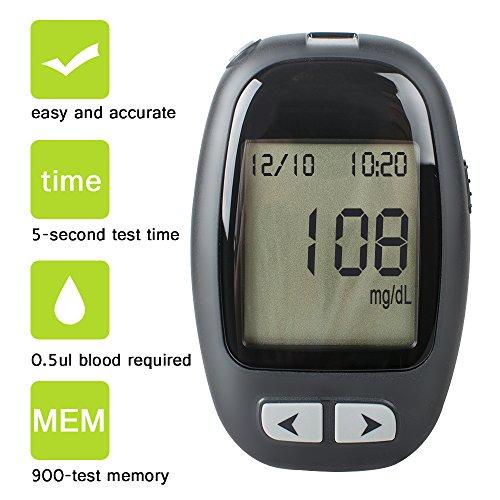 Zorvo-Blood-Glucose-Monitoring-System-KIT-with-10-Strips-Blood-glucose-meter-Blood-Glucose-monitoring-Test-Meter-Kit-With-Strips-Lancets-Case