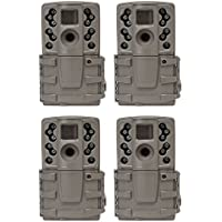 Moultrie A20 12MP Long Range Low Glow Infrared Hunting Game Trail Camera, 4 Pack