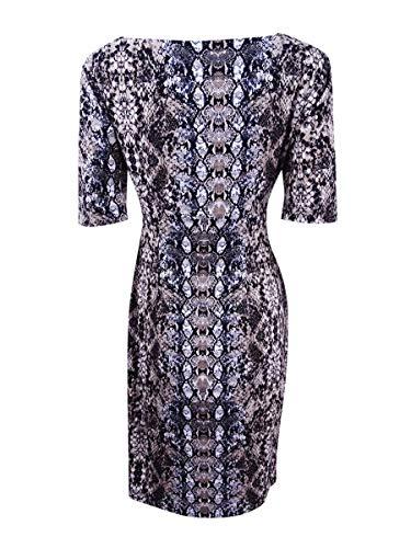Vêtements Connectés Femmes Imprimé Serpent Faux Petites- Envelopper Mini-robe Noire