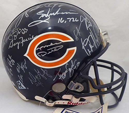 1985 Chicago Bears Multi Signed Autographed Full Size Authentic Proline Helmet With 31 Signatures Including Walter Payton