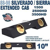 88-98 Chevy Silverado & GMC Sierra Extended Cab 10 Sub Box Sub woofer Enclosure