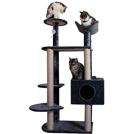 MFF-CAT TREE Árbol para Gatos Casa del Sisal De Múltiples Capas Actividad De La