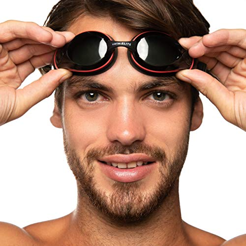Swimming Goggles for Men and Women - Swim Goggles for Adults (Black)