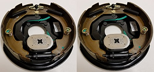 2-Pack 10'' x 2'' Left Hand Electric Trailer Brake Backing Plates by eCustomhitch