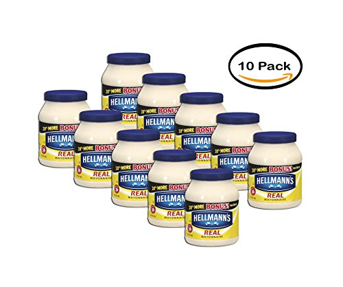 PACK OF 10 - Hellmann's Real Mayonnaise, 30 fl oz by Hellmann's