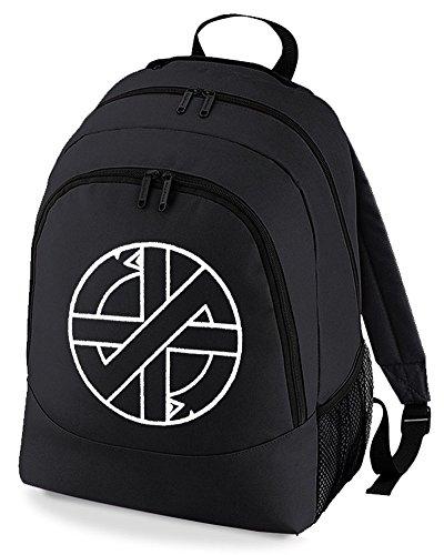 Bag Logo punk Rucksack Crass Black Backpack Unisex rock vYZZnq