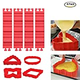 PUCKWAY Nonstick 4PCS Silicone Cake Mold Cake Pan Magic Bake Snake DIY Baking Mould Tools - Design Your Cakes Any Shape