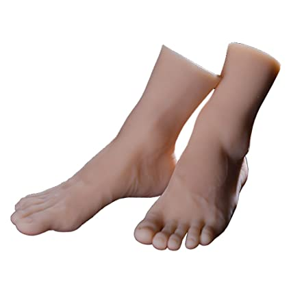 Amazon Com 1 Pair Silicone Lifesize Male Mannequin Foot With Bone