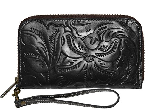 Patricia Nash Italian Leather Women's Biscay Wristlet Clutch Wallet Purse Bag
