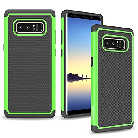 Samsung Galaxy Note 8 Case, INNOVAA Anti-Slip Shockproof Soft Silicone Dual-Layer Durable Armor Case W/ Free Touch Screen Stylus Pen - (Pen For Touch Screen Green)