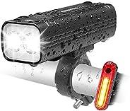 EBUYFIRE USB Rechargeable Bike Light Set, 1000 lumens Ultra Bright LED Bike Lights Front and Back, 3 Light Mod