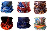 4ucycling Unisex Headbands, 1 Pack or 6 Pack, Helmet Liner or Headband