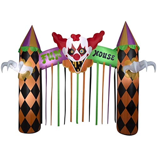 Gemmy Clowns Inflatable 12ft. Archway Fun House Indoor/Outdoor Halloween Decoration with Sound