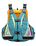 MTI Adventurewear Women's 2017 Moxie PFD Life Jacket with Adjust-a-Bust, Turquoise/Caribe Print, Medium/Large