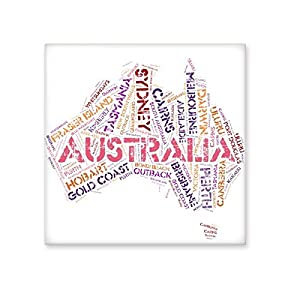 Australia Flavor Map with State and City Names and Scenic Spots Illustration Ceramic Bisque Tiles for Decorating Bathroom Decor Kitchen Ceramic Tiles Wall Tiles low-cost
