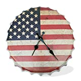 Mookundy USA clock. Beer cap shaped clock. Man Cave Decor