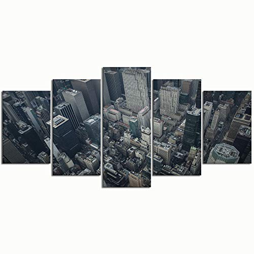 Paintings Modern Canvas Painting Wall Art Pictures 5 Pieces Helicopter Tours in New York CityDecor HD Printed Posters Frame