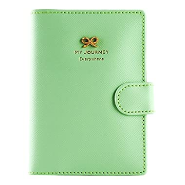 Travel Journey Passport ID Card Holder Case Cover Purse and Passport case (Bows Green)