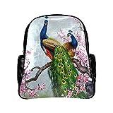 lintchi Peacock Black Multi-pocket Backpack Bag